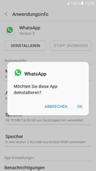 Samsung Galaxy A3 (2017) - Apps - Eine App deinstallieren - Schritt 7