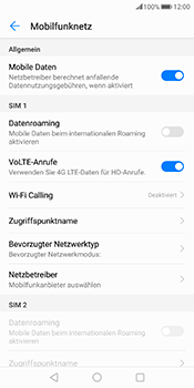Huawei Mate 10 Pro - Netzwerk - Netzwerkeinstellungen ändern - 5 / 7