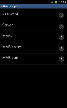 Samsung N7000 Galaxy Note - Internet - Manual configuration - Step 9