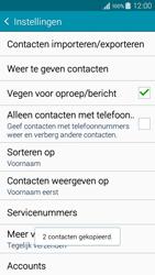 Samsung A300FU Galaxy A3 - Contacten en data - Contacten kopiëren van SIM naar toestel - Stap 12