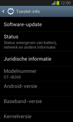 Samsung I8260 Galaxy Core - Software update - update installeren zonder PC - Stap 4