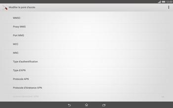 Sony Xperia Tablet Z2 LTE - MMS - Configuration manuelle - Étape 10