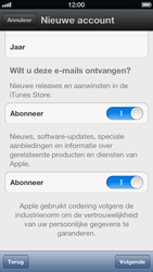 Apple iPhone 5 (iOS 6) - apps - account instellen - stap 11