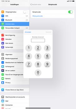 Apple ipad-pro-11-inch-2018-model-a1934 - Beveiliging en ouderlijk toezicht - Hoe wijzig ik mijn SIM PIN-code - Stap 10