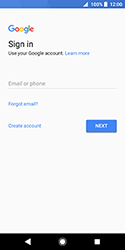 Sony Xperia XZ2 Compact - Applications - Create an account - Step 4