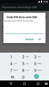 Motorola Moto E4 Plus - Sécuriser votre mobile - Personnaliser le code PIN de votre carte SIM - Étape 9
