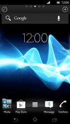 Sony Xperia T - Operazioni iniziali - Installazione di widget e applicazioni nella schermata iniziale - Fase 3