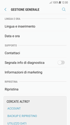 Samsung Galaxy A5 (2017) - Android Nougat - Dispositivo - Ripristino delle impostazioni originali - Fase 6