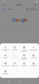 Samsung Galaxy Note20 Ultra 5G - Internet et connexion - Naviguer sur internet - Étape 9