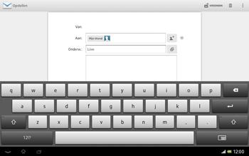 Sony SGP321 Xperia Tablet Z LTE - E-mail - e-mail versturen - Stap 8