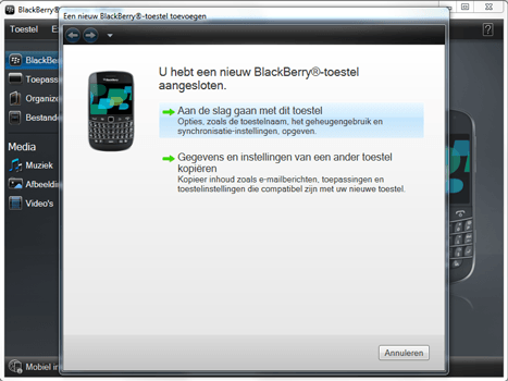 BlackBerry 9900 Bold Touch - Software - Installeer firmware update - Stap 4