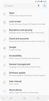 Samsung Galaxy Note9 - Mobile phone - Resetting to factory settings - Step 4