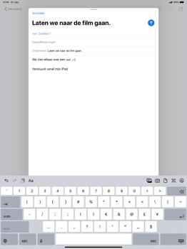 Apple ipad-pro-12-9-inch-model-a1671-ipados-13 - E-mail - Bericht met attachment versturen - Stap 8
