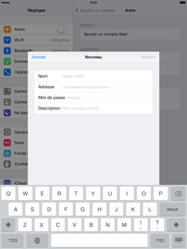 Apple iPad Air - E-mail - configuration manuelle - Étape 7