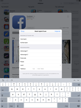 Apple iPad Pro 12.9 inch (2nd generation) - Applicaties - Account aanmaken - Stap 19