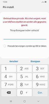 Samsung Galaxy A10 - Beveiliging - stel in of wijzig pincode voor je toestel - Stap 8