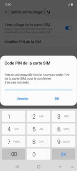Samsung Galaxy A51 5G - Sécuriser votre mobile - Personnaliser le code PIN de votre carte SIM - Étape 10
