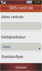 Samsung S5230 Star - SMS - handmatig instellen - Stap 8