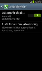 Samsung Galaxy S3 Mini - Anrufe - Anrufe blockieren - 2 / 2