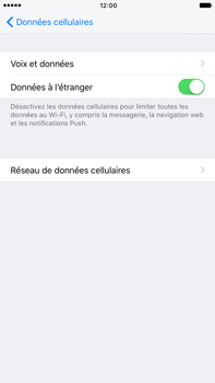 Apple iPhone 6 Plus iOS 10 - Internet - désactivation du roaming de données - Étape 5