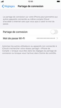 Apple iPhone 7 Plus - iOS 13 - WiFi - Comment activer un point d'accès WiFi - Étape 6