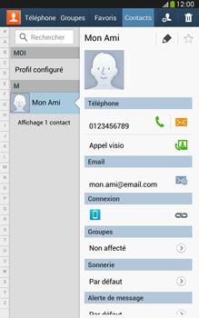 Samsung Galaxy Tab 3 8 4G - Contact, Appels, SMS/MMS - Ajouter un contact - Étape 12
