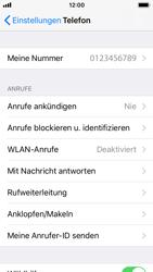 Apple iPhone 5s mit iOS 11 - Anrufe - Rufumleitungen setzen und löschen - Schritt 4