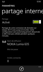 Nokia Lumia 635 - Internet et connexion - Partager votre connexion en Wi-Fi - Étape 9