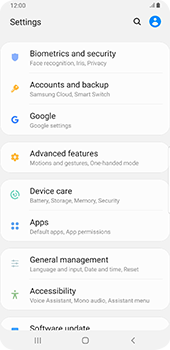 Samsung Galaxy Note9 - Android Pie - Mobile phone - Resetting to factory settings - Step 4