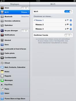 Apple iPad mini - WiFi - Configuration du WiFi - Étape 7