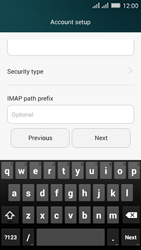 Huawei Y635 Dual SIM - Email - Manual configuration IMAP without SMTP verification - Step 12