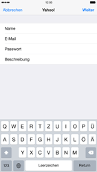 Apple iPhone 6 Plus iOS 8 - E-Mail - Konto einrichten (yahoo) - Schritt 8