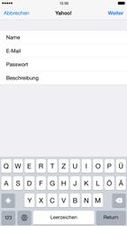 Apple iPhone 6 iOS 8 - E-Mail - 032b. Email wizard - Yahoo - Schritt 9