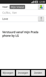 LG P940 PRADA phone by LG - e-mail - hoe te versturen - stap 8