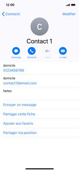 Apple iPhone XS - iOS 12 - Contact, Appels, SMS/MMS - Ajouter un contact - Étape 11