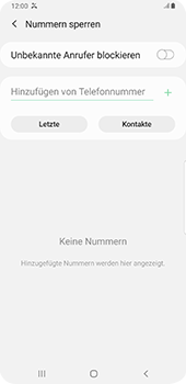Samsung Galaxy S9 Plus - Android Pie - Anrufe - Anrufe blockieren - Schritt 7