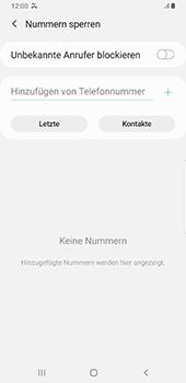 Samsung Galaxy S9 Plus - Anrufe - Anrufe blockieren - 7 / 11