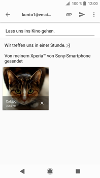 Sony Xperia XA2 Ultra - E-Mail - E-Mail versenden - 1 / 1