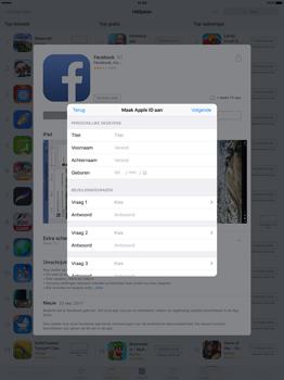 Apple iPad Pro 12.9 inch (Model A1671) - Applicaties - Account aanmaken - Stap 11