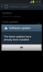 Samsung Galaxy Express - Software - Installing software updates - Step 12