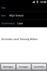 Samsung S7500 Galaxy Ace Plus - E-mail - Hoe te versturen - Stap 9