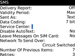 BlackBerry 8520 Curve - SMS - Manual configuration - Step 5