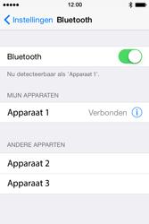 Apple iPhone 4S (iOS 8) - bluetooth - headset, carkit verbinding - stap 6