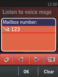 Nokia Asha 300 - Voicemail - Manual configuration - Step 6
