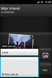 Sony ST23i Xperia Miro - MMS - afbeeldingen verzenden - Stap 14
