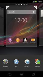 Sony Xperia V - Operazioni iniziali - Installazione di widget e applicazioni nella schermata iniziale - Fase 3