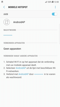 Samsung Galaxy S6 edge+ - Android Nougat - WiFi - Mobiele hotspot instellen - Stap 12