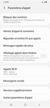 Samsung Galaxy A40 - Messagerie vocale - configuration manuelle - Étape 8