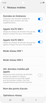 Samsung Galaxy S20 FE - Aller plus loin - Désactiver les données à l'étranger - Étape 6