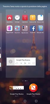 Huawei P20 - Operazioni iniziali - Installazione di widget e applicazioni nella schermata iniziale - Fase 9